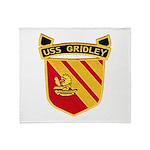 USS GRIDLEY Throw Blanket