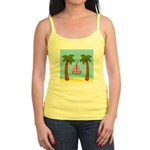 Pink Sailboat on a Beach Tank Top