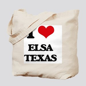 I love Elsa Texas Tote Bag