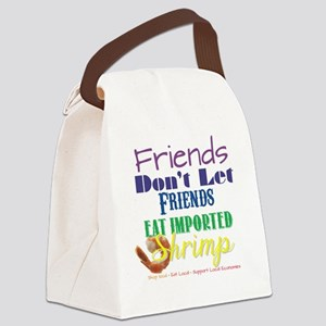 Local Shrimp Canvas Lunch Bag