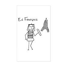 En Francais Rectangle Sticker