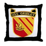 USS GRIDLEY Throw Pillow