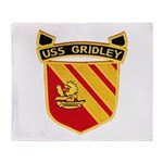 USS GRIDLEY Throw Blanket