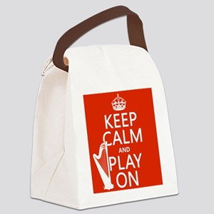 Play On (harp) Canvas Lunch Bag