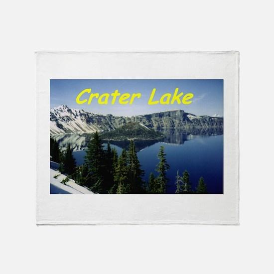 Crater Lake Throw Blanket