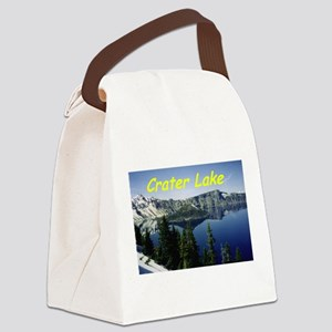 Crater Lake Canvas Lunch Bag