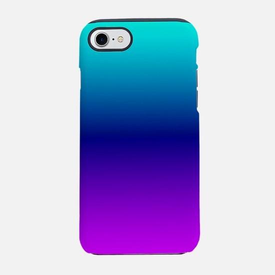 Aqua Ombre iPhone 7 Tough Case