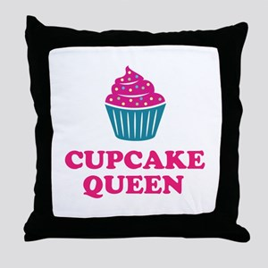 Cupcake baking queen Throw Pillow