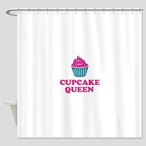 Cupcake baking queen Shower Curtain