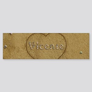 Vicente Beach Love Sticker (Bumper)