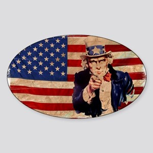 Uncle Sam Pointing Retro Distressed Sticker
