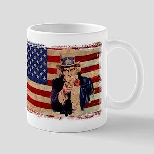 Uncle Sam Pointing Retro Distressed Mugs
