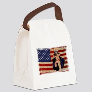 Uncle Sam Pointing Retro Distressed Canvas Lunch B