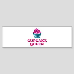 Cupcake baking queen Bumper Sticker