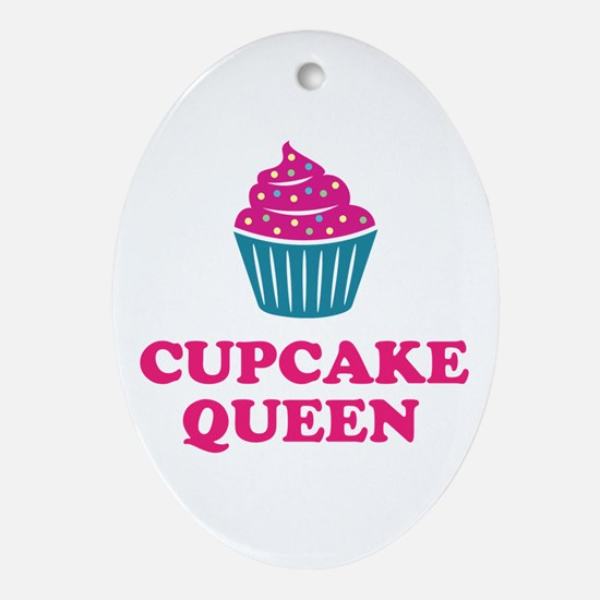 Cupcake baking queen Ornament (Oval)
