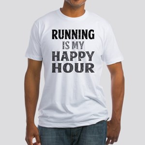 Running Is My Happy Hour Fitted T-Shirt