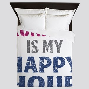 Running Is My Happy Hour Queen Duvet