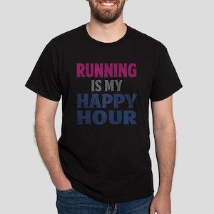 Running Is My Happy Hour Dark T-Shirt