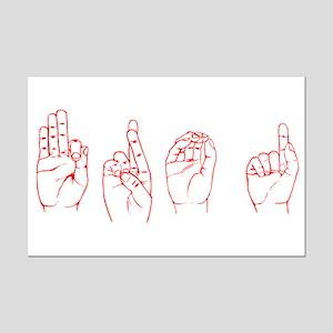 Red ASL FROG Mini Poster Print