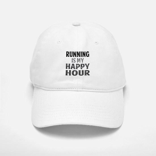 Running Is My Happy Hour Baseball Baseball Cap