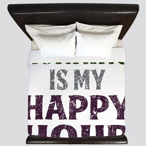 Running Is My Happy Hour King Duvet