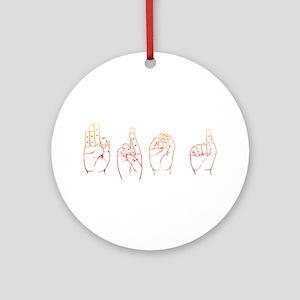 Sunset ASL FROG Ornament (Round)