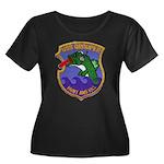 USS GROU Women's Plus Size Scoop Neck Dark T-Shirt