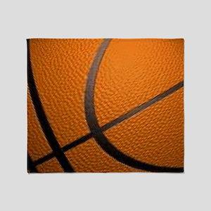 Basketball Big Wide Throw Blanket