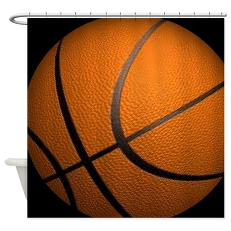 Basketball Big Wide Shower Curtain