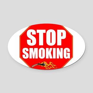 Stop Smoking Oval Car Magnet