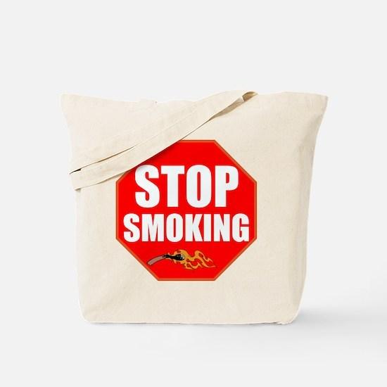 Stop Smoking Tote Bag