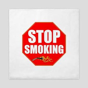 Stop Smoking Queen Duvet