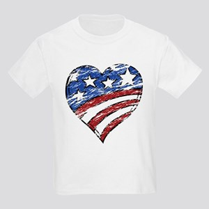 Distressed American Flag Heart T-Shirt