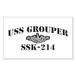 USS GROUPER Sticker (Rectangle)