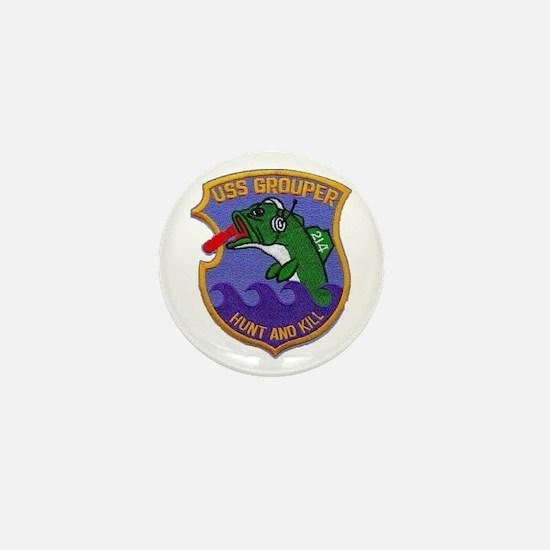 USS GROUPER Mini Button