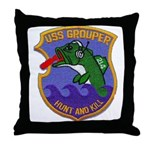 USS GROUPER Throw Pillow