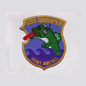 USS GROUPER Throw Blanket