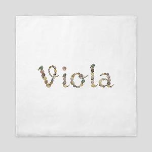 Viola Seashells Queen Duvet