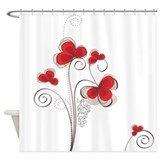 Red poppy Shower Curtains