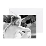 Bathing On The Yuba Greeting Cards (Pk of 20)