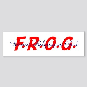 Blue and Red FROG Bumper Sticker