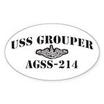 USS GROUPER Sticker (Oval)
