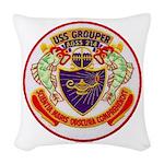 USS GROUPER Woven Throw Pillow
