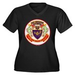 USS GROUPER Women's Plus Size V-Neck Dark T-Shirt