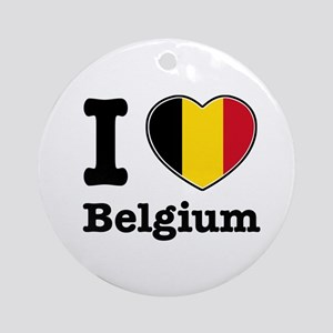I love Belgium Ornament (Round)