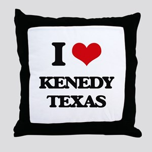 I love Kenedy Texas Throw Pillow