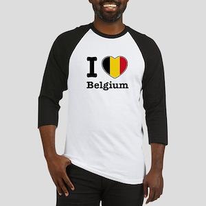 I love Belgium Baseball Jersey