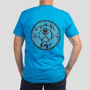 Paddle Oar Die (circle Men's Fitted T-Shirt (dark)
