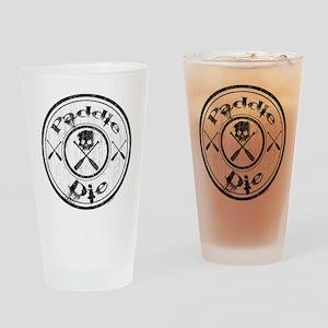 Paddle Oar Die (circle) Drinking Glass
