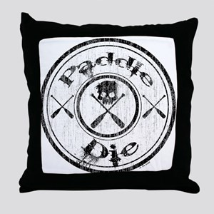 Paddle Oar Die (circle) Throw Pillow